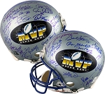 Super Bowl MVPs Autographed Limited Edition Helmet with 37 Signatures