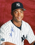 Homer Bush Autographed New York Yankees 8x10 Photo