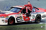 Dale Earnhardt Jr. Autographed Sitting on Car 20x28 Photo