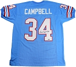 Earl Campbell Autographed Houston Oilers Custom Jersey