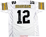 Terry Bradshaw Autographed Pittsburgh Steelers White Custom Jersey