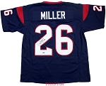 Lamar Miller Autographed Houston Texans Custom Jersey