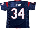 Tyler Ervin Autographed Houston Texans Custom Jersey
