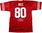 Jerry Rice Autographed San Francisco 49ers Career Stat Jersey Collectors Edition