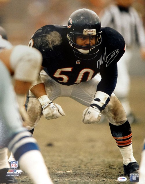 Mike Singletary signed Chicago Bears NFL Wilson Brown Logo Football ...