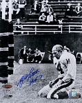 YA Tittle Autographed New York Giants Bloody Head 8x10 Photo Inscribed HOF 71