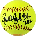 Jennie Finch Autographed Yellow Official Softball
