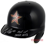 Craig Biggio Autographed Astros Mini Batting Helmet Inscribed 3060 Hits & HOF
