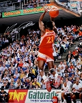 Dominique Wilkins Autographed Atlanta Hawks Dunking 16x20 Photo