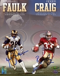 Marshall Faulk & Roger Craig Autographed 8x10 Photo