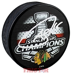 Andrew Shaw Autographed Blackhawks 2015 Stanley Cup Champs Puck