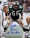 Bill Bergey Autographed Philadelphia Eagles 8x10 Photo Inscribed 4x Pro Bowl