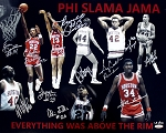 Houston Cougars Phi Slama Jama Autographed 16x20 Photo - Olajuwon & 10 More