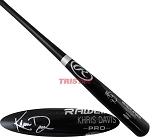 Khris Davis Autographed Rawlings Name Model Black Bat