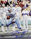 Drew Pearson Autographed Dallas Cowboys 8x10 Photo Inscribed ROH 2011