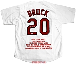 Lou Brock Autographed St. Louis Cardinals Stat Embroidered Jersey