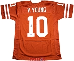 Vince Young Autographed Texas UT Longhorns Custom Jersey