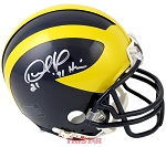 Desmond Howard Autographed Michigan Wolverines Mini Helmet Inscribed 91 Heisman