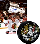 Andrew Shaw Autographed Blackhawks 2013 Stanley Cup Champs Puck & 8x10 Photo