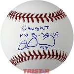 Miguel Montero Autographed Baseball Inscribed Caught NH 8-30-15