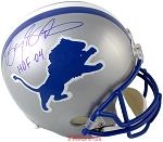Barry Sanders Autographed Detroit Lions Full Size Helmet Inscribed HOF 04