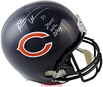 Brian Urlacher Autographed Chicago Bears Full Size Helmet Inscribed DPOY