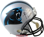 Luke Keuchly Autographed Carolina Panthers Full Size Helmet Inscribed DPOY