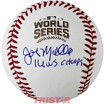 John Mallee Autographed 2016 World Series Baseball Inscribed WS Champs