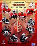 San Francisco 49ers Autographed Hall of Famers 16x20 Photo - 11 Signatures