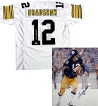 Terry Bradshaw Autographed Pittsburgh Steelers 16x20 Photo & Jersey Combo