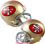 Joe Montana & Jerry Rice Autographed San Francisco 49ers Full Size Helmet Inscribed SB MVP