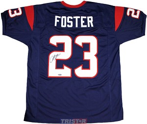 Arian Foster Autographed Houston Texans Blue Custom Jersey