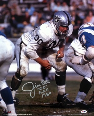 Jim Otto Autographed Oakland Raiders 16x20 Photo Inscribed HOF 80