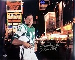 Joe Namath Autographed New York Jets 16x20 Photo Broadway