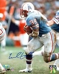 Earl Campbell Autographed Houston Oilers Side-View 8x10 Photo