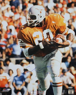 Earl Campbell Autographed Texas Longhorns 16x20 Photo Inscribed HT 77