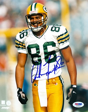 Antonio Freeman Autographed Green Bay Packers 8x10 Photo