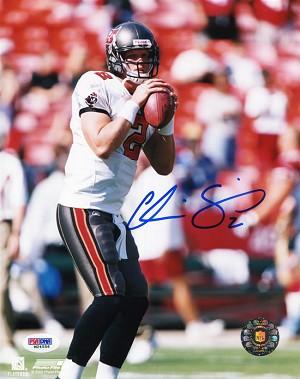 Chris Simms Autographed Tampa Bay Bucaneers 8x10 Photo