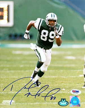 Dedric Ward Autographed New York Jets 8x10 Photo