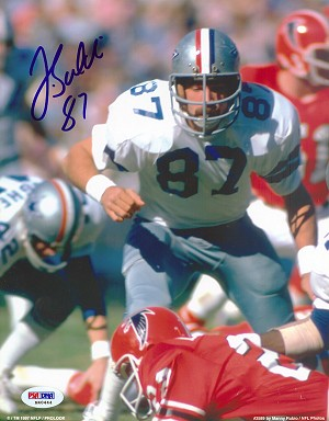 Jay Saldi Autographed Dallas Cowboys vs Falcons 8x10 Photo