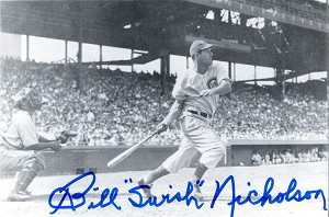 Bill Nicholson Autographed Philadelphia Phillies Horizontal Postcard