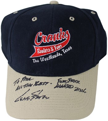 Gene Elston Autographed Baseball Cap Inscribed Ford Frick Award 2006