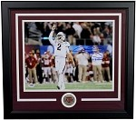 Johnny Manziel Autographed Texas A&M TD 11x14 Photo Framed '12 Heisman