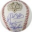 Joaquin Arias, Jose Mijares & Hector Sanchez Autographed 2012 World Series Baseball