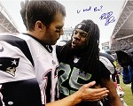Richard Sherman Autographed Seahawks vs Patriots 16x20 Photo U Mad Bro