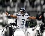 Russell Wilson Autographed Seattle Seahawks 16x20 Photo Signed in Green