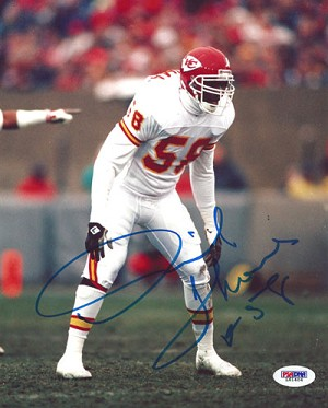Derrick Thomas Autographed Kansas City Chiefs 8x10 Photo