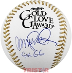 Ryne Sandberg Autographed Gold Glove Award Baseball Inscribed 9x GG