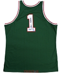 Oscar Robertson Autographed Milwaukee Bucks M&N 1970-71 Jersey Inscribed HOF 79