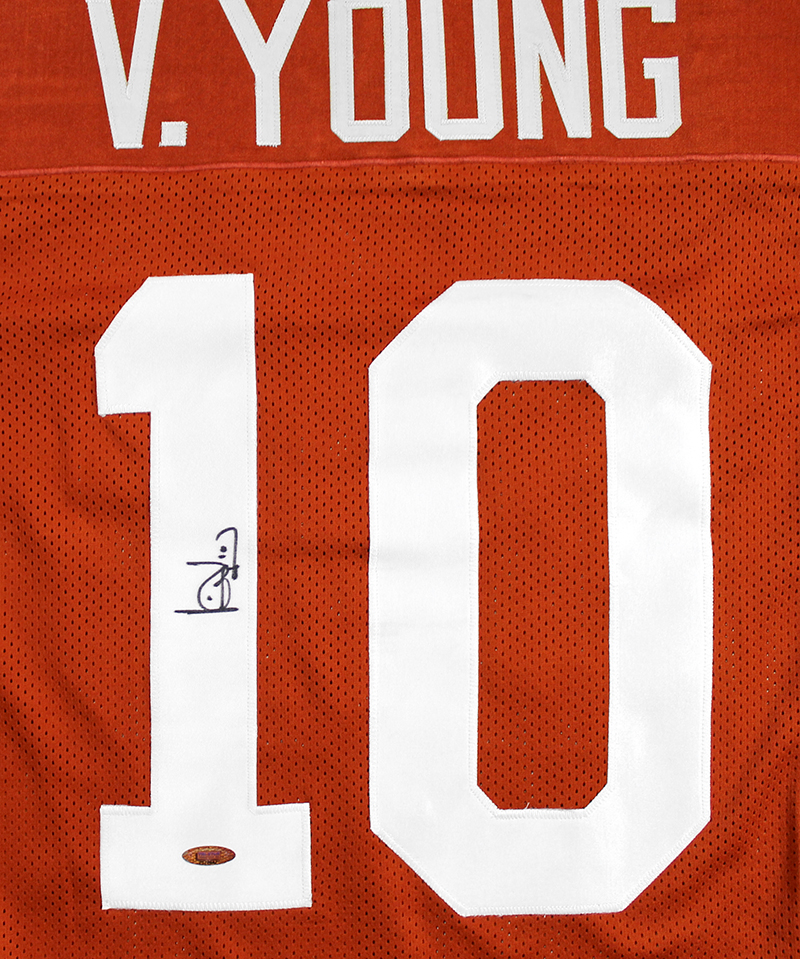 differently 8c37f 63ac7 Vince Young Autographed Texas UT Longhorns Custom Jersey